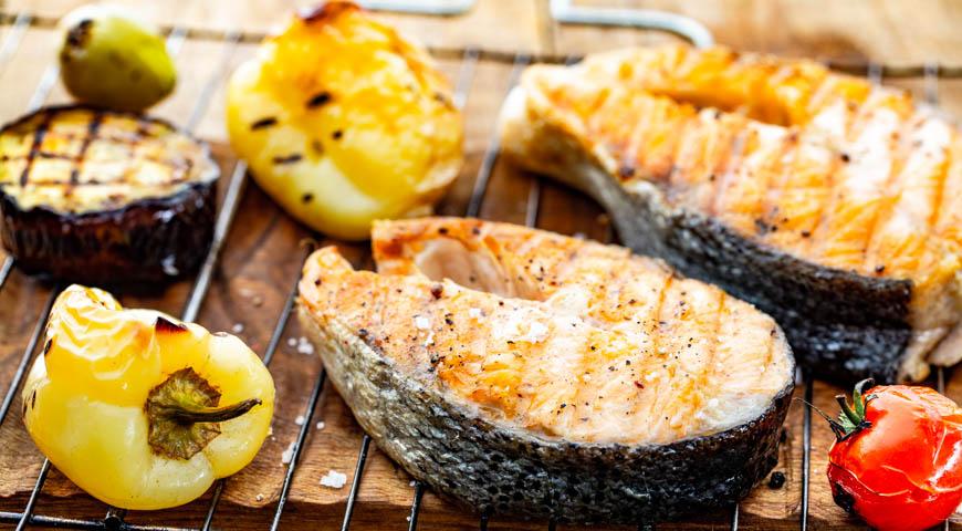 Стейк из лосося на сковороде! невозможно остановиться!