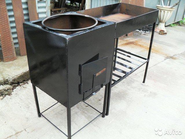 Печка для казана из трубы своими руками, как сделать печку под восточную кухню, фото