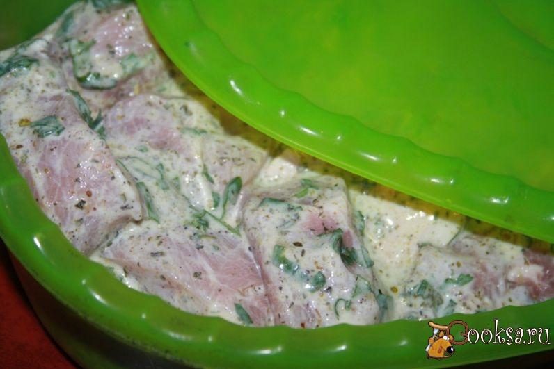 Грузинский шашлык из свинины на углях