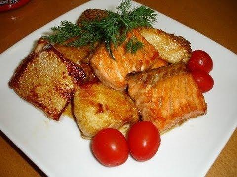 Филе рыбы на сковороде