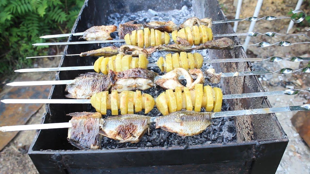 Рыба на мангале - рецепты приготовления. шашлык из рыбы на мангале