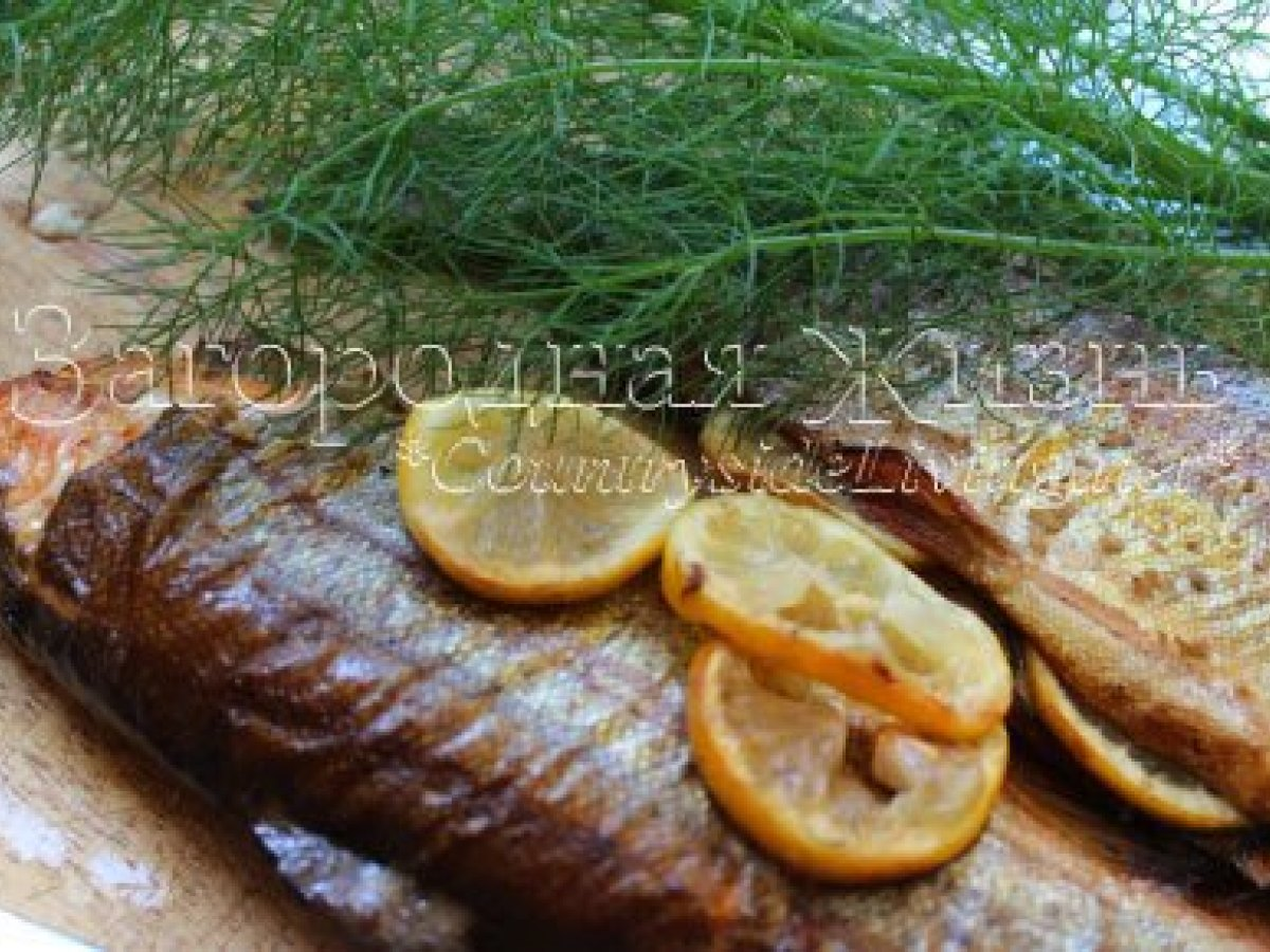 Рыба на мангале, решетке