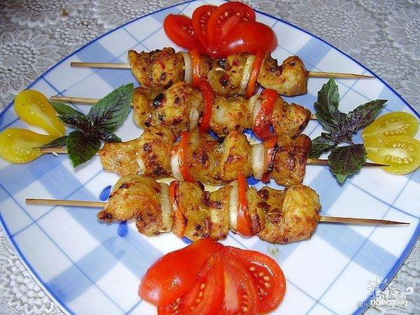 Шашлык из семги на шпажках - 8 пошаговых фото в рецепте