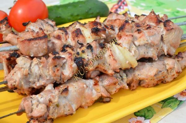Экспериментальный шашлык из свинины с киви