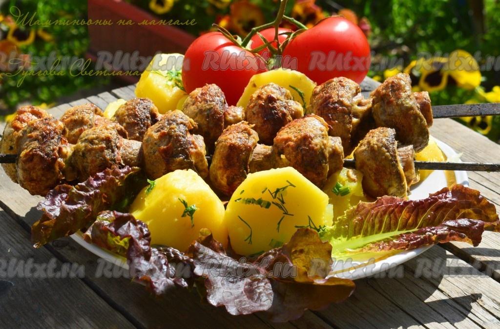 Простые и вкусные рецепты как мариновать шампиньоны для шашлыка