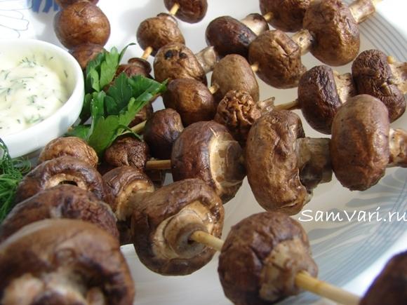 Шашлык из грибов шампиньонов: 8 лучших рецептов |