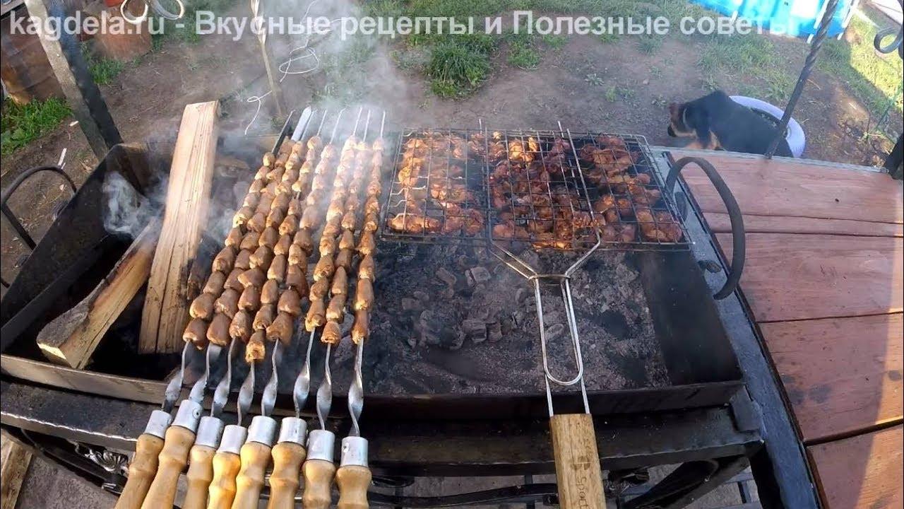 Шашлык из куриных сердечек на мангале рецепт с фото