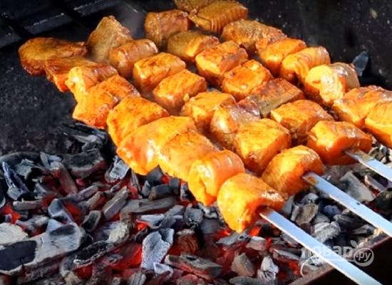 Рецепты шашлыка из рыбы | как правильно приготовить рыбный шашлык на углях