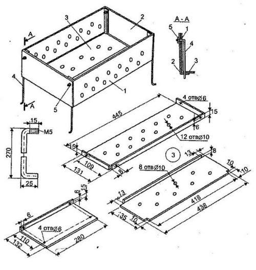 Как изготовить мангал из металла своими руками: фото-инструкция | сам строил