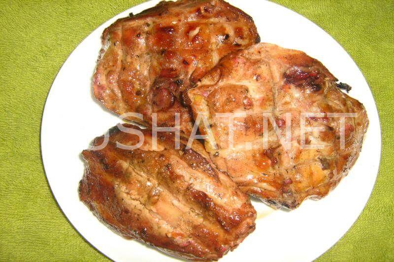 Шашлык из курицы на кефире на мангале