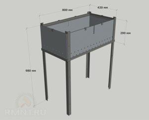 Размеры мангала: стандарты, чертежи и нормы с фото
