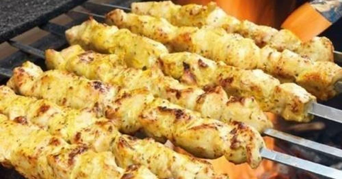 Шашлык из окорочков в ореховом маринаде