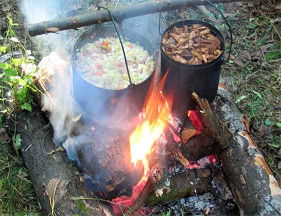 Походные рецепты блюд на костре и горелке