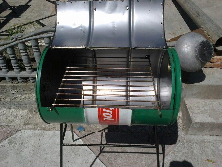 Мангал для барбекю из бочки своими руками – фото, конструкции