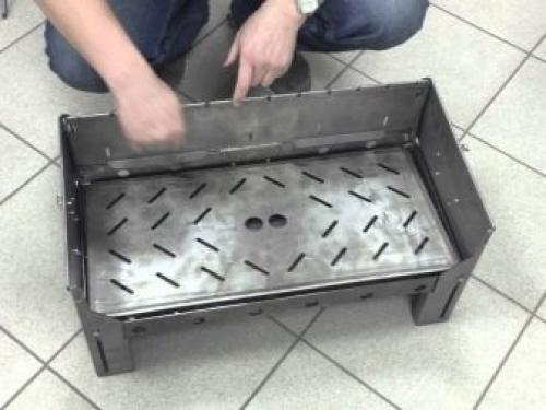 Мастерим мангал из металла для дачи своими руками