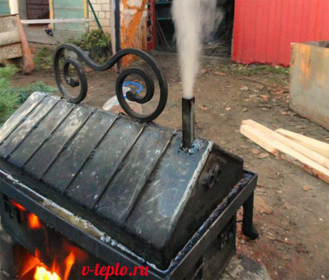 Мангал из металла своими руками: фото, схемы, чертежи, видео