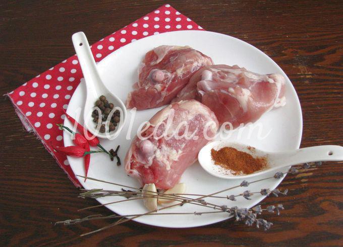 Куриный шашлык на шпажках в духовке
