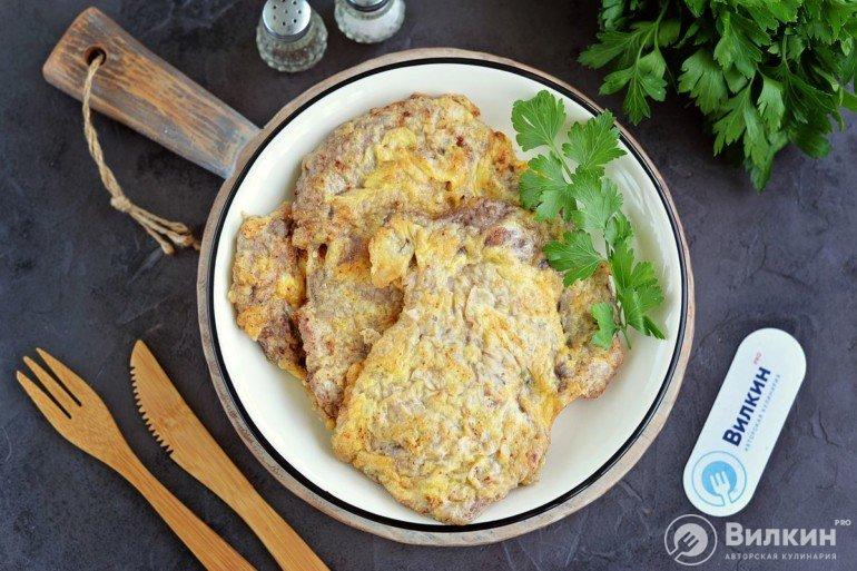 Рецепт отбивных из говядины на сковороде