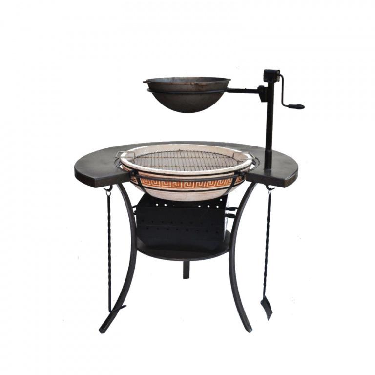 Казан мангал (63 фото): варианты с печкой из металла для приготовления шашлыка, как выбрать подставку, проекты с крышей, печью и коптильней