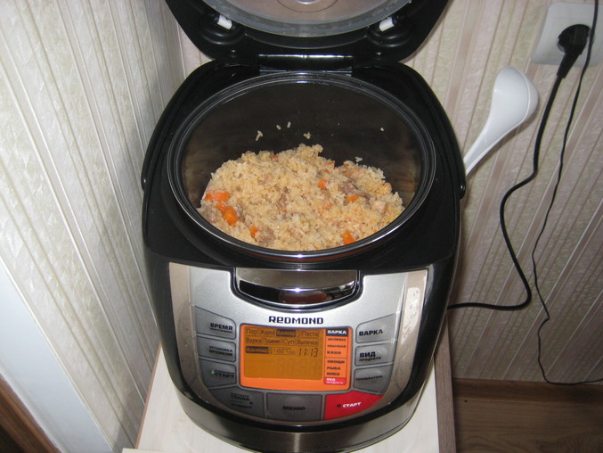 Рецепт вкуснейшего плова с курицей, приготовленного в мультиварке редмонд