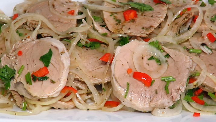 Рецепт салат холодный шашлык