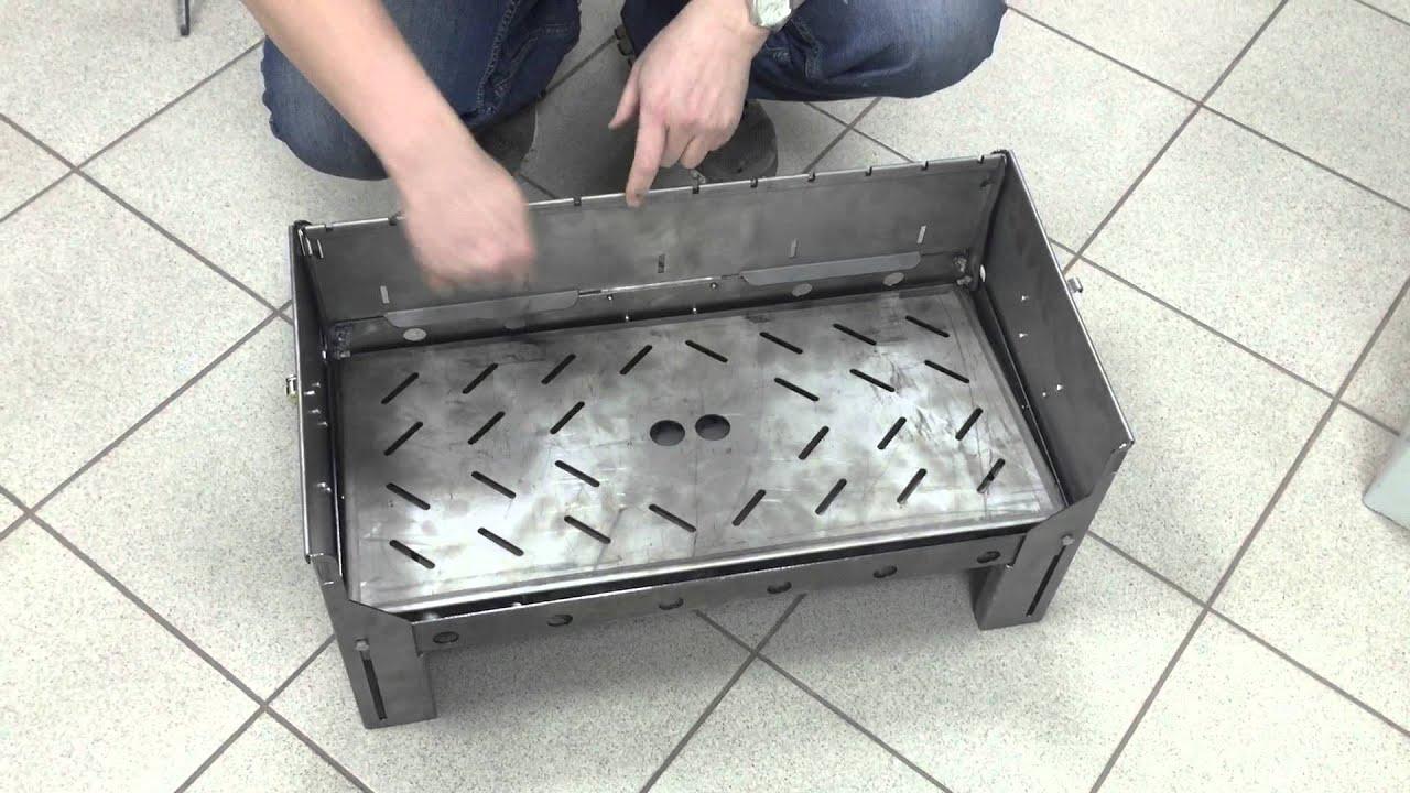 Как сделать металлический мангал