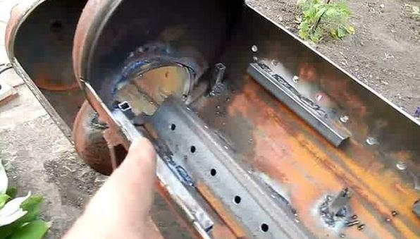 Как сделать практичный мангал из обычного газового баллона