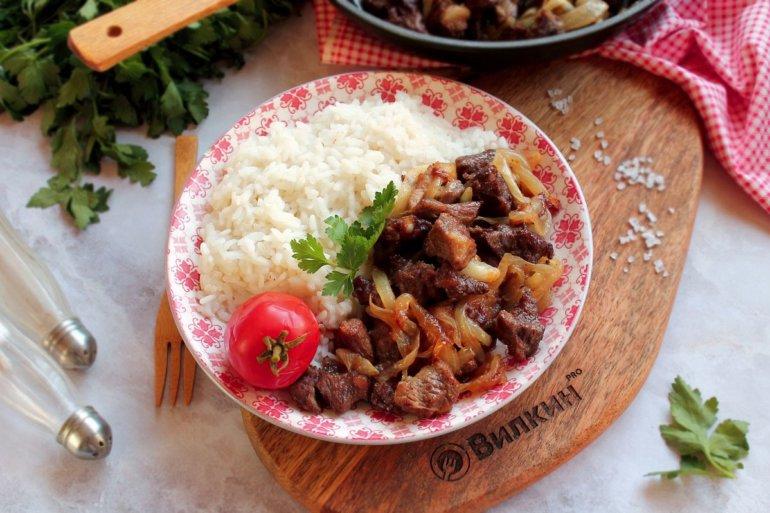 Шашлык из говядины на сковороде