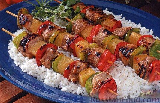 Шашлык из болгарского перца: рецепт и фото