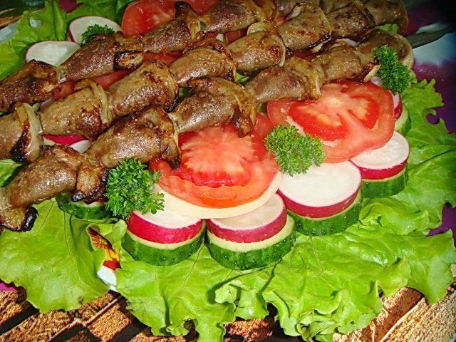 Шашлычки из куриных сердечек - 11 пошаговых фото в рецепте