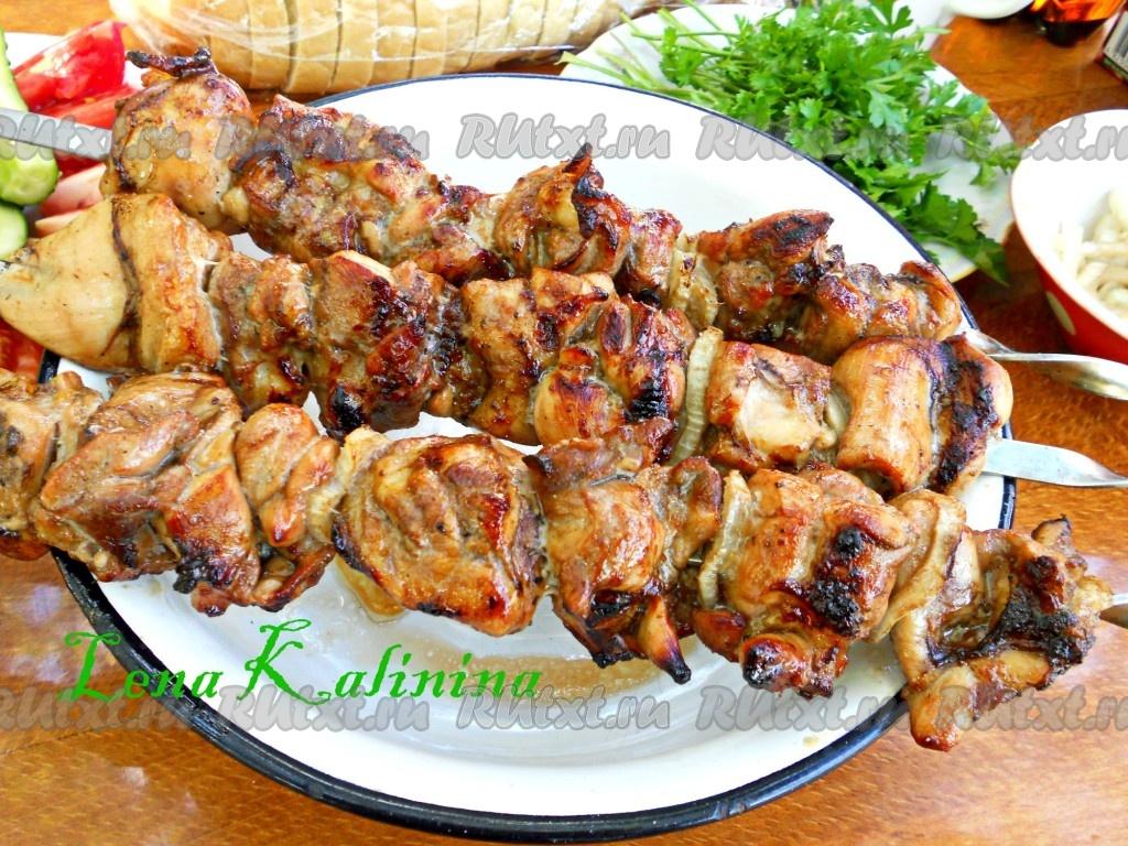 Шашлык из индейки + самый вкусный маринад, чтобы мясо было мягким и сочным