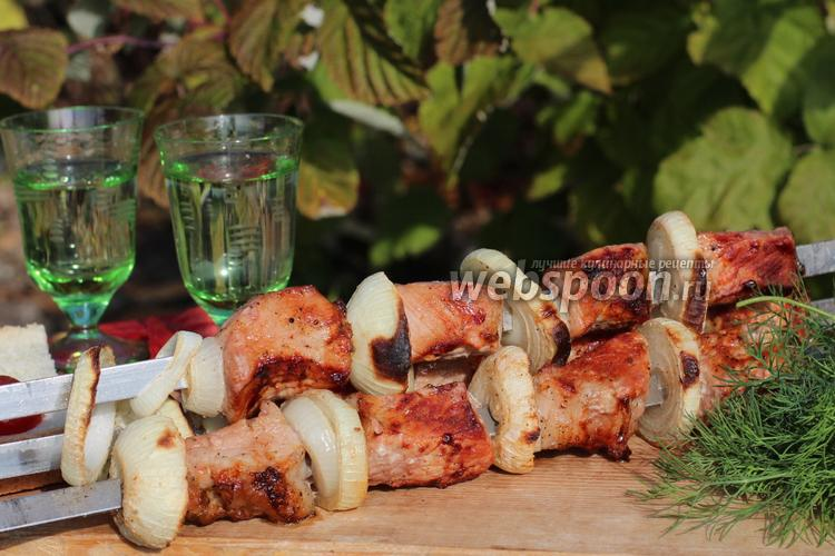 Шашлык из свинины в красном вине
