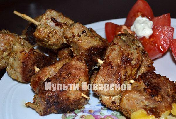 Сочный и вкусный шашлык в мультиварке из свинины