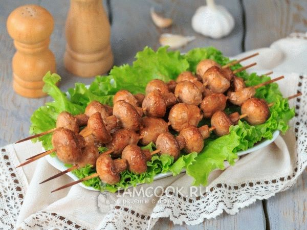 Шашлык из грибов шампиньонов маринад