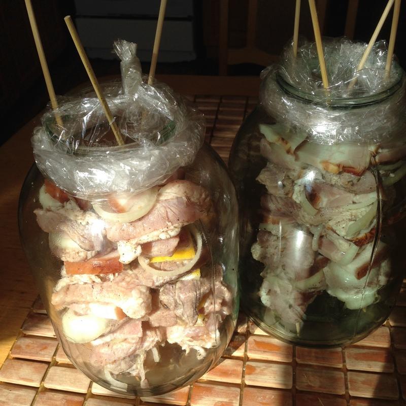 Пошаговый рецепт приготовления шашлыка в банке в духовке
