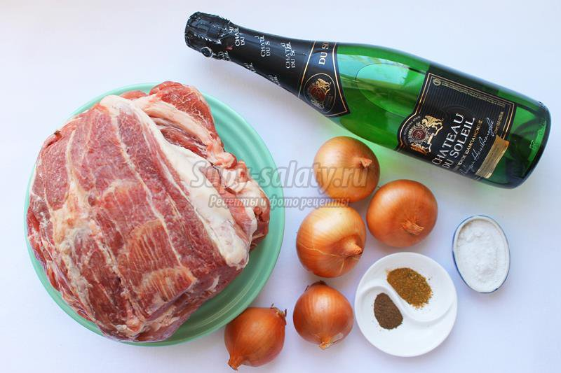 Шашлык из свинины, маринованной в шампанском. рецепт с пошаговыми фото. винный маринад для мяса — секреты приготовления