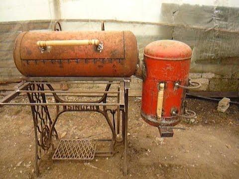 Мангал-коптильня из газового баллона: своими руками по чертежу