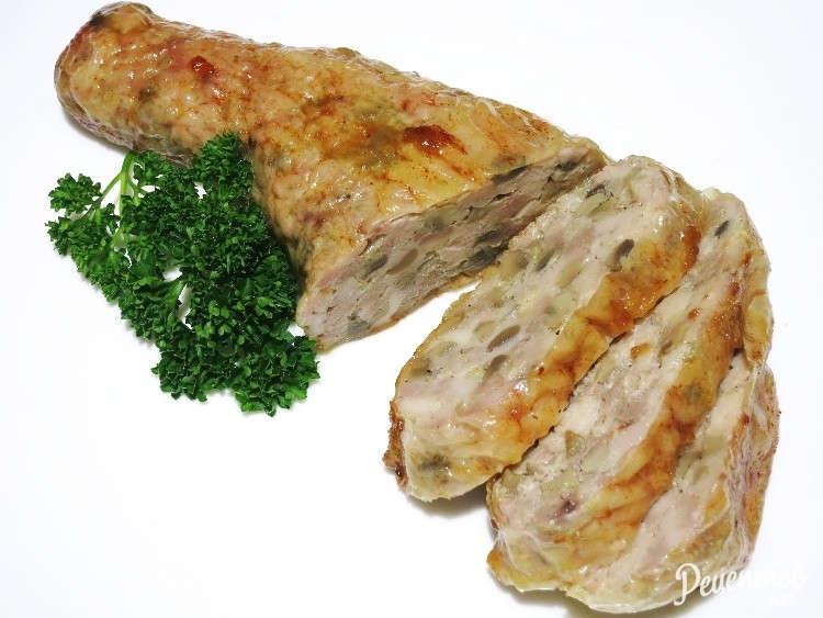 Куриные окорочка фаршированные грибами — пошаговый рецепт в духовке