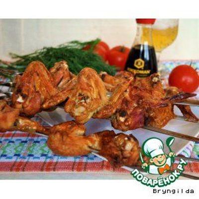 Как лучше замариновать крылышки для шашлыка. оранжевые куриные крылышки. рецепт шашлык из куриных крылышек в томатной пасте