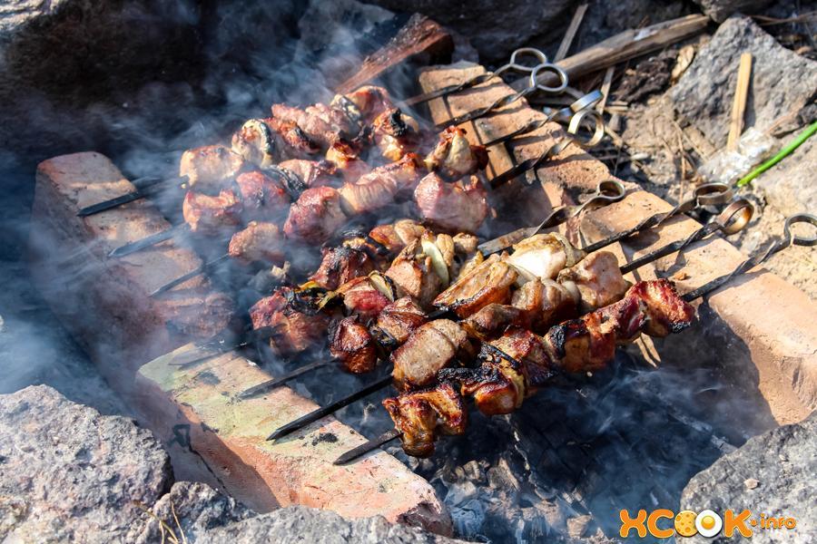 Шашлык из свиного мяса без маринада
