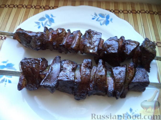 Рецепты шашлыка из говяжьей печени