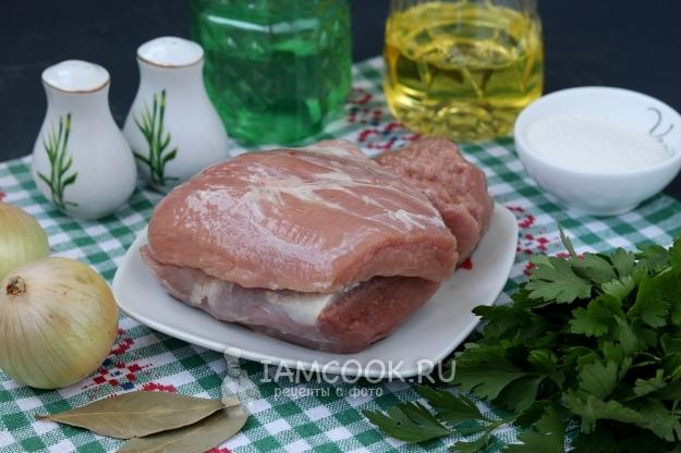 Шашлык из вареной свинины | шашлык - про