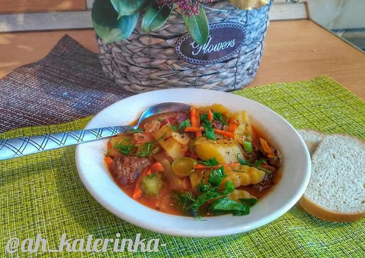 Азу по–татарски с солеными огурцами — классические рецепты