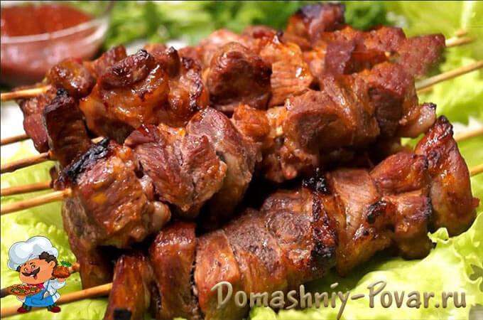 Шашлык из телятины в духовке: рецепт