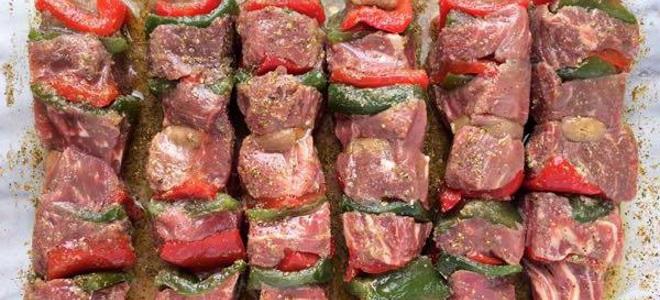 Шашлык из говядины с киви | шашлык - про