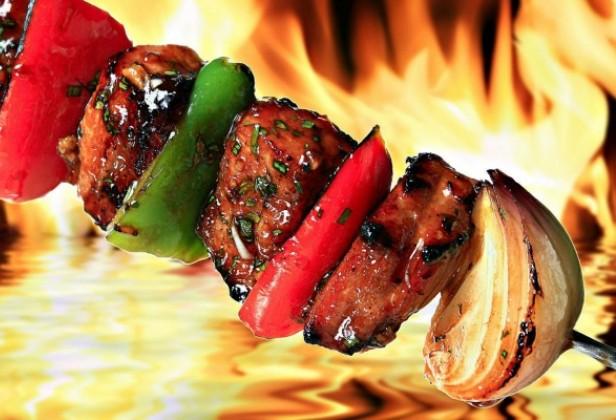 Овощи на мангале по-армянски