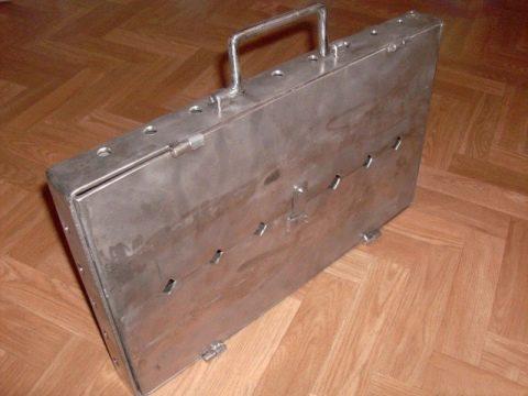Мангал «чемодан»: оригинальные идеи для вашего участка
