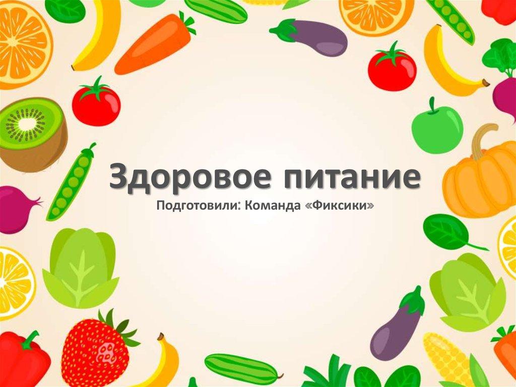 Правильное питание для студентов