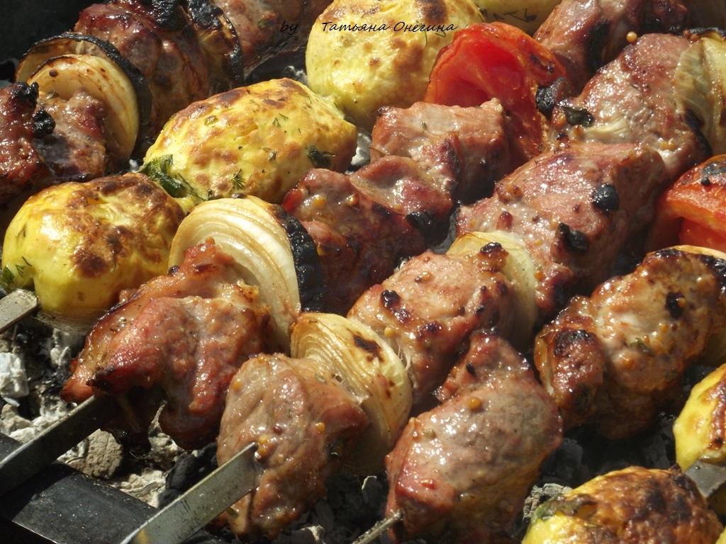 Шашлык из свинины рецепт с горчицей