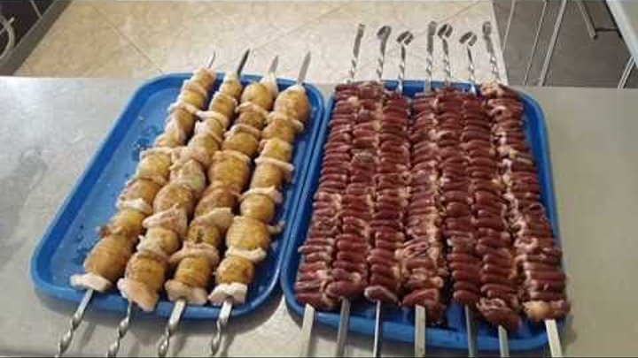Шашлык из куриных сердечек на мангале: рецепт с фото, секреты приготовления